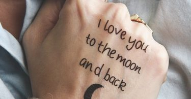 Moon Love Temporary Tattoo by Tattify