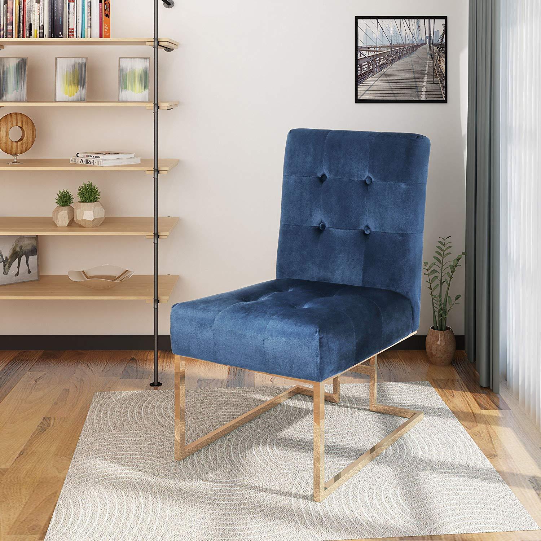 Christopher Knight Home 304355 Baron Modern Velvet Accent Chair