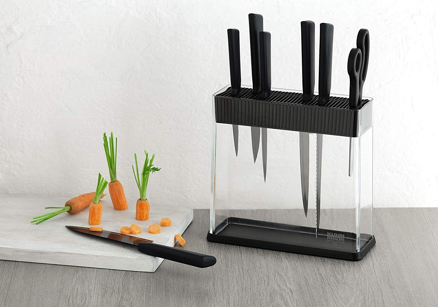 Kuhn Rikon Vision Clear Slotted Easy-to-Clean Knife Stand
