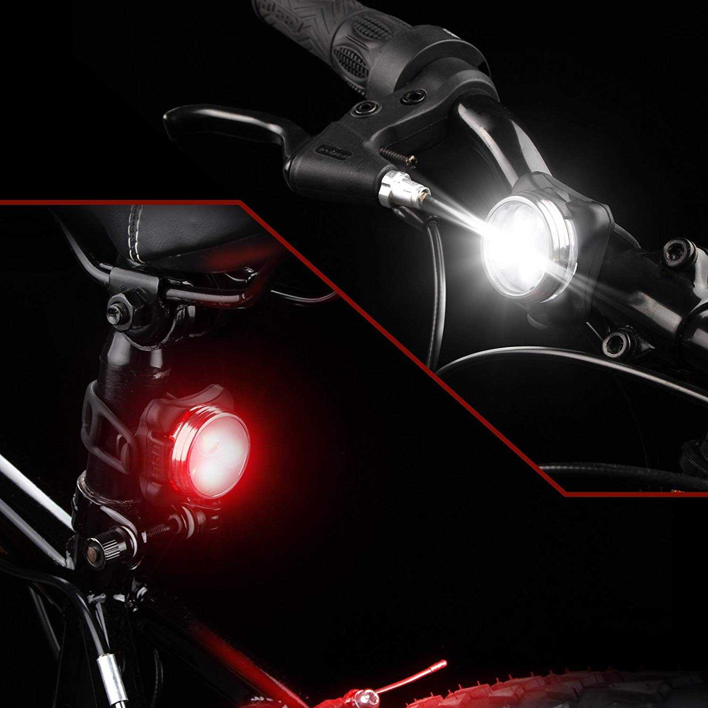Ascher USB Rechargeable Bike Light Set