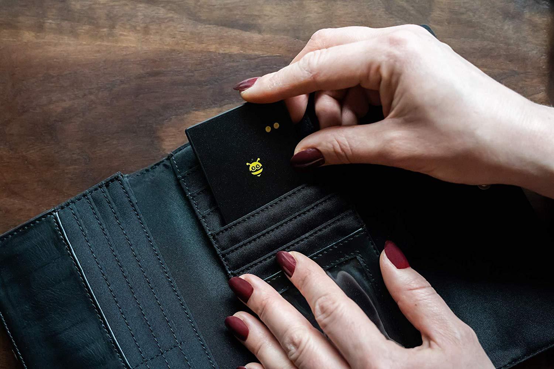 Pebblebee BlackCard Rechargeable 500 Foot Range Wallet Finder