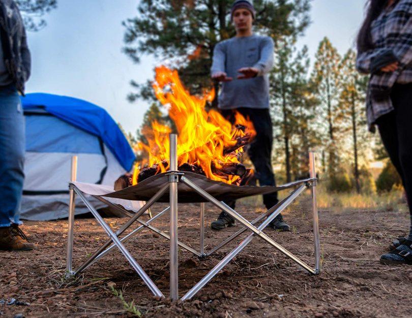 Campfire Defender Protect Preserve Pop-Up Fire Pit