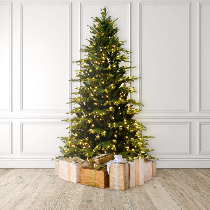 Martha Stewart Natural Pine Pre-Lit Artificial Christmas Tree