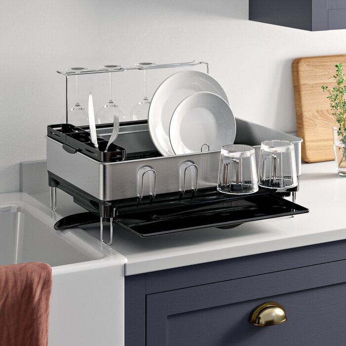 simplehuman Kitchen Steel Frame Dish Rack