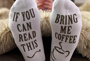 "Women's Novelty Socks – ""If You Can Read This, Bring Me Some"""