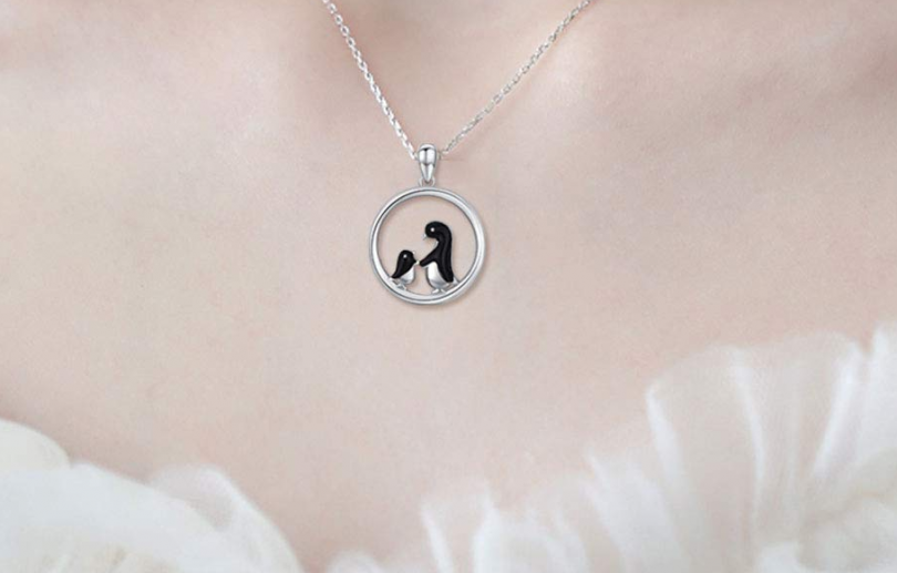 JUSTKIDSTOY Penguin Necklace for Women