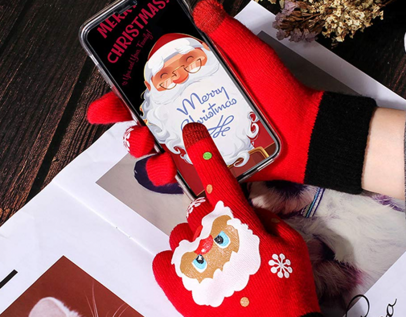 Wowsoul Unisex Christmas Gloves Touchscreen Gloves