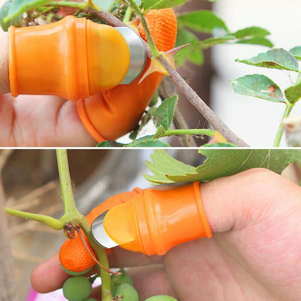 Simplenes Silicone Thumb Knife Garden Gloves