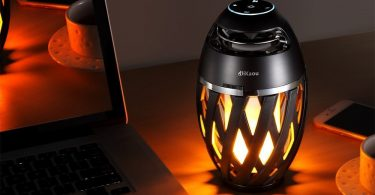 DIKAOU Led flame table lamp