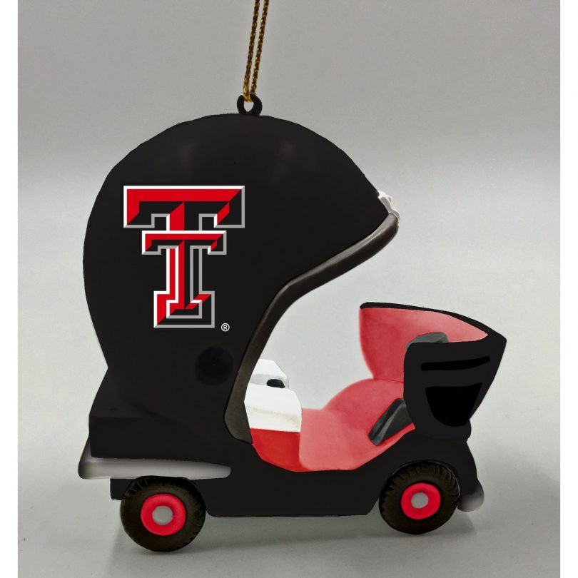 Team Sports America Texas Tech Vintage Field Cart Team Ornament
