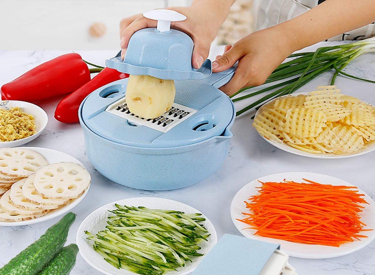 Fomuson 12-in-1 Vegetable Mandoline Slicer Cutter Set