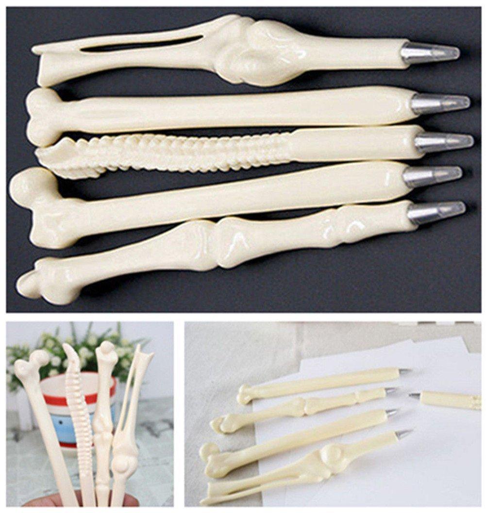 Creative Novelty Bone Shape Ink Ballpoint Pens Finger