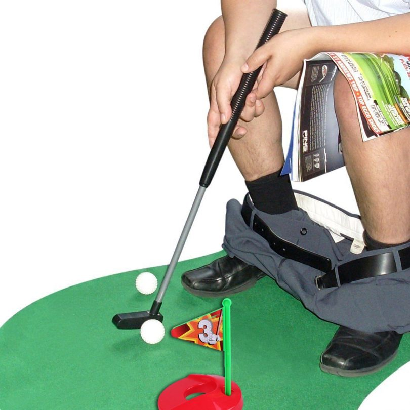 Toilet Golf Potty Time Putter Game