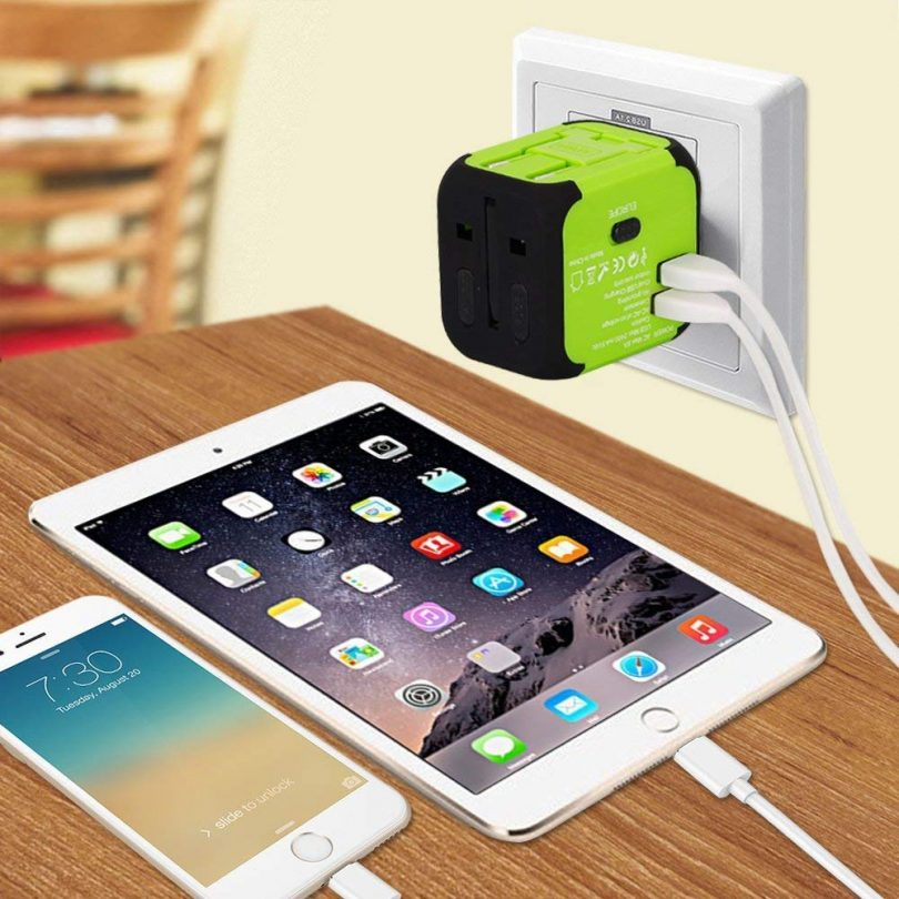 Travel Adapter Uppel Dual USB All-in-one Worldwide Travel Chargers