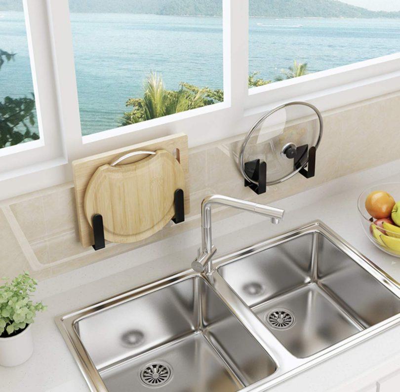 Pot Lid Holder, Cutting Board Holder Kitchen Rack