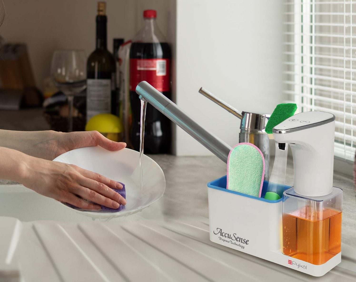 Pykal 2-in-1 Automatic Soap Dispenser Touchless & Organizer