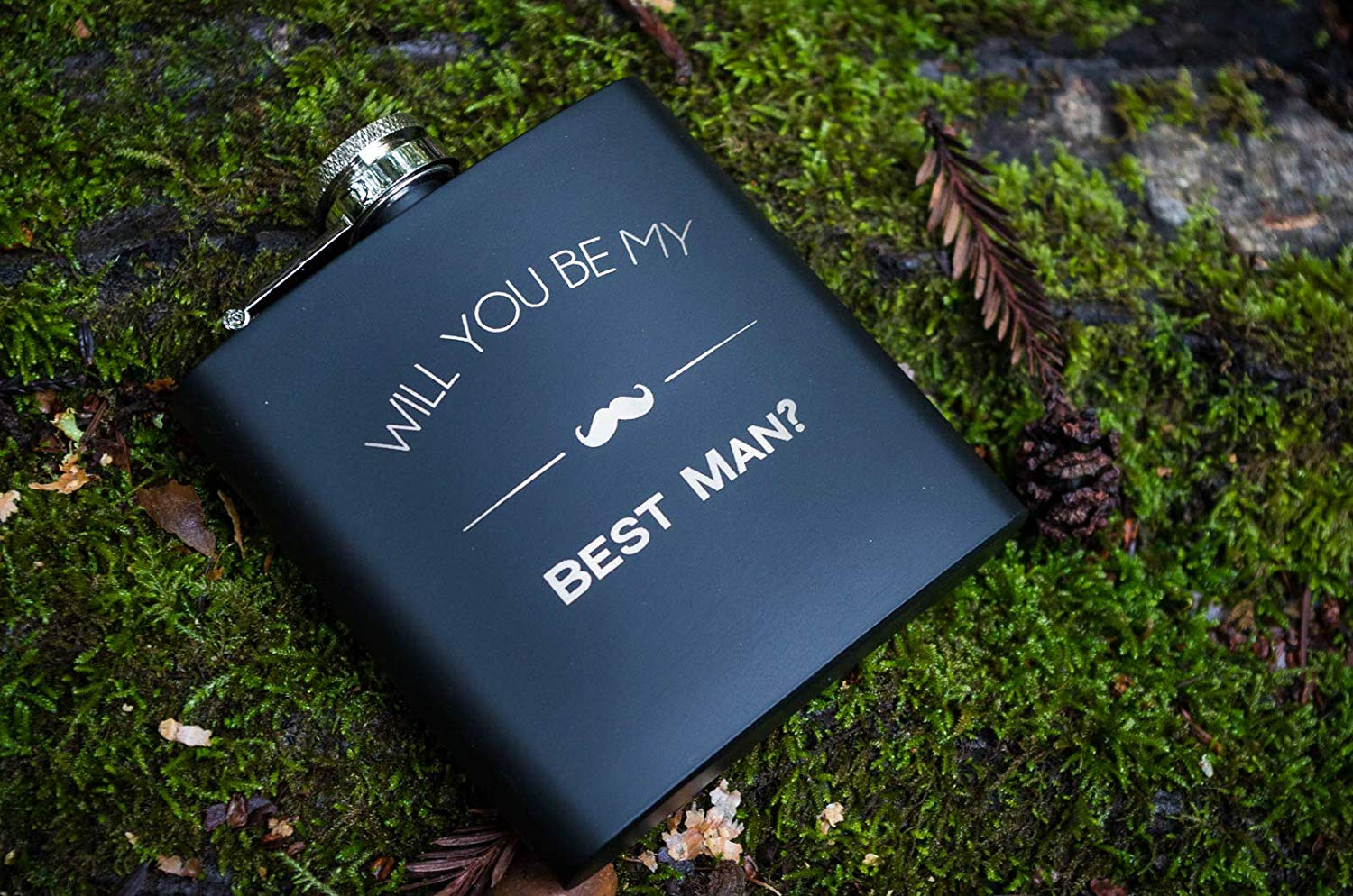Will You Be My Best Man Engraved Gift Flask