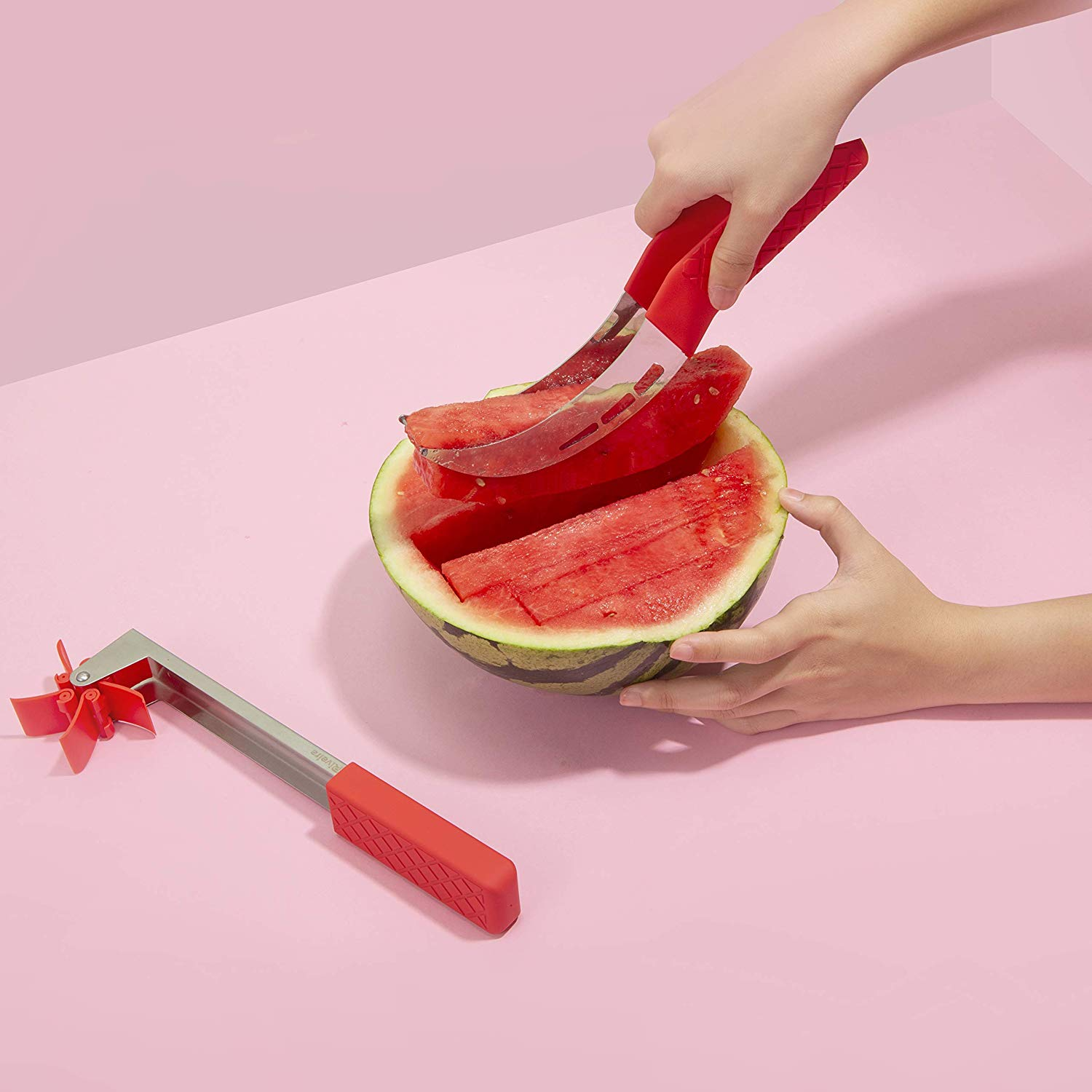 Riveira Watermelon Slicer Windmill Cutter Carving Knife