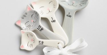 World Market Cat Shaped Ceramic Measuring Spoons