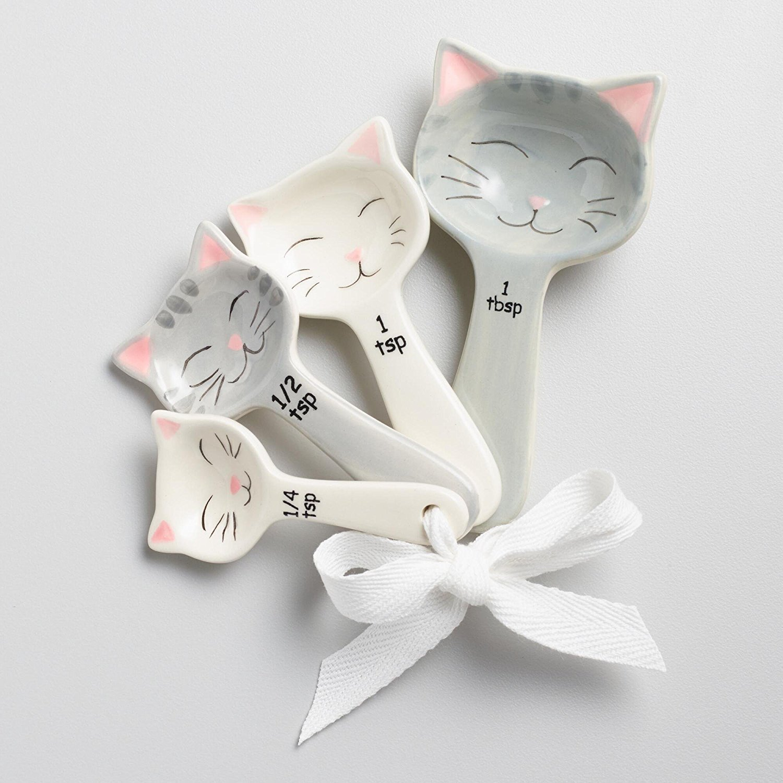 World Market Cat Shaped Ceramic Measuring Spoons