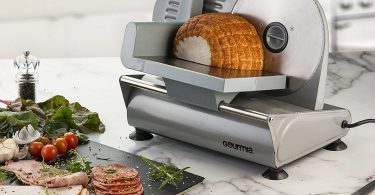 Gourmia GFS700 Professional Electric Power Food & Meat Slicer with Removable 7.5""