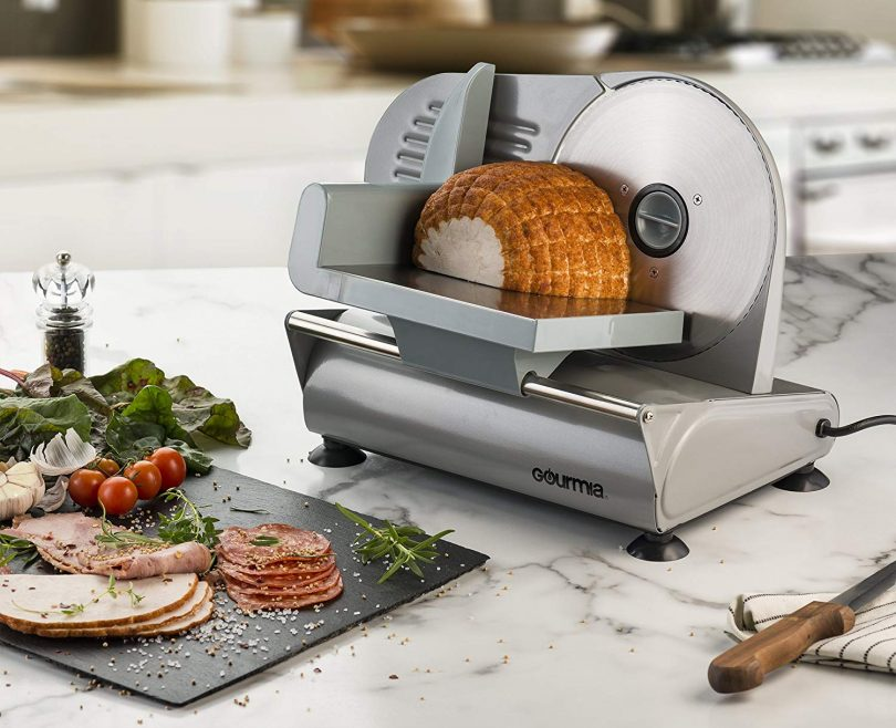 """Gourmia GFS700 Professional Electric Power Food & Meat Slicer with Removable 7.5"""""""