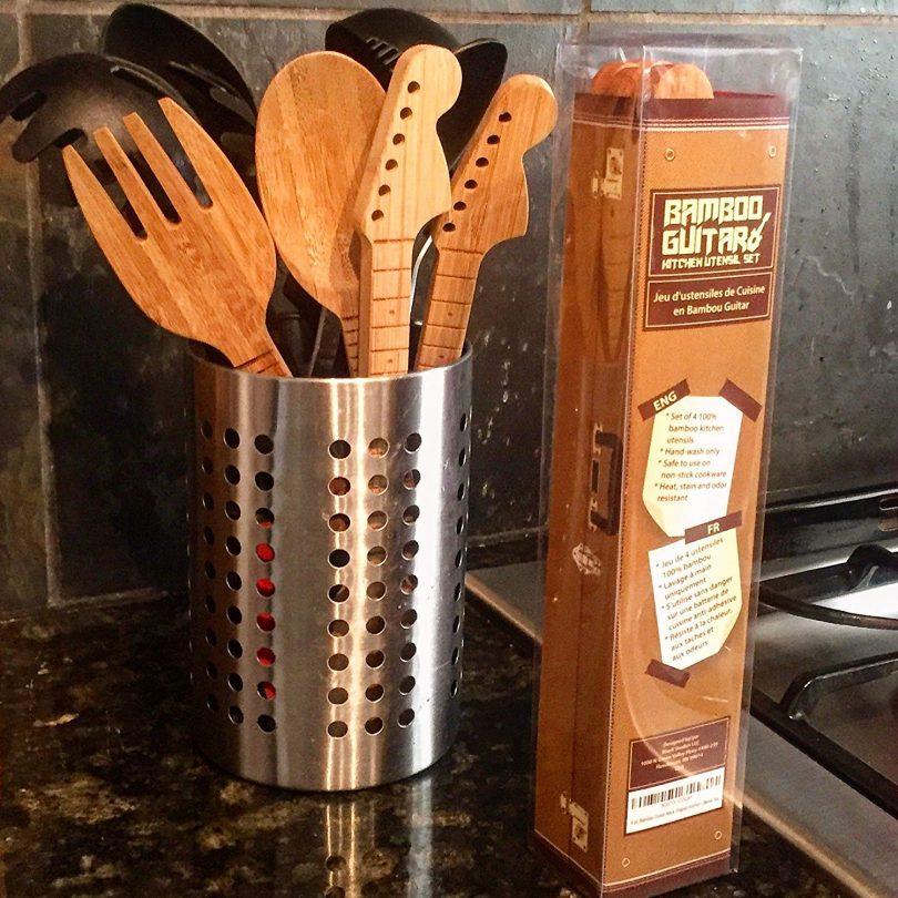 Bamboo Guitar Neck Shaped Kitchen Cooking Utensil Set