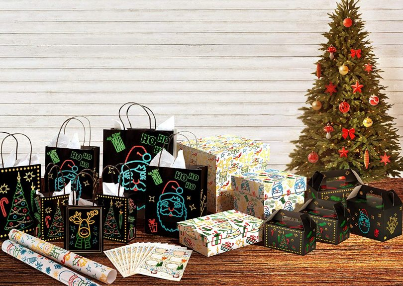 Christmas Holiday Glow-In-The-Dark Gift Bag