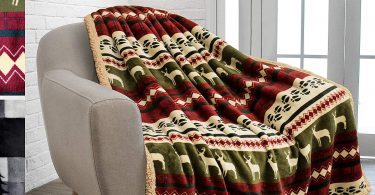 PAVILIA Premium Plush Sherpa Throw Christmas Blanket
