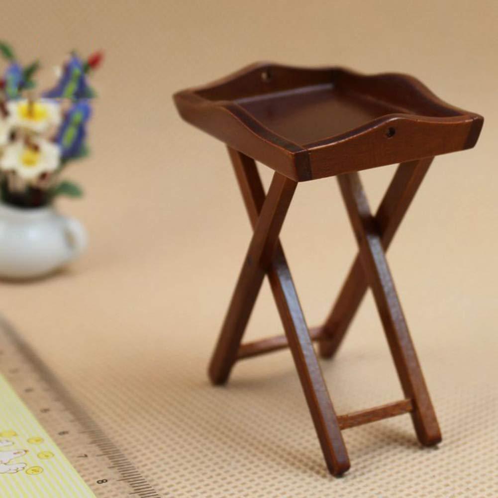 prettDliJUN 1/12 Wooden Miniature Doll House Accessories of Furniture
