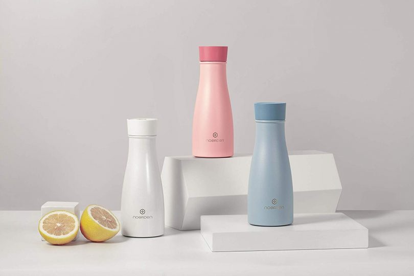 NOERDEN LIZ Smart Self-Cleaning Bottle with UV Sterilization and Hydration Reminder To Drink Water