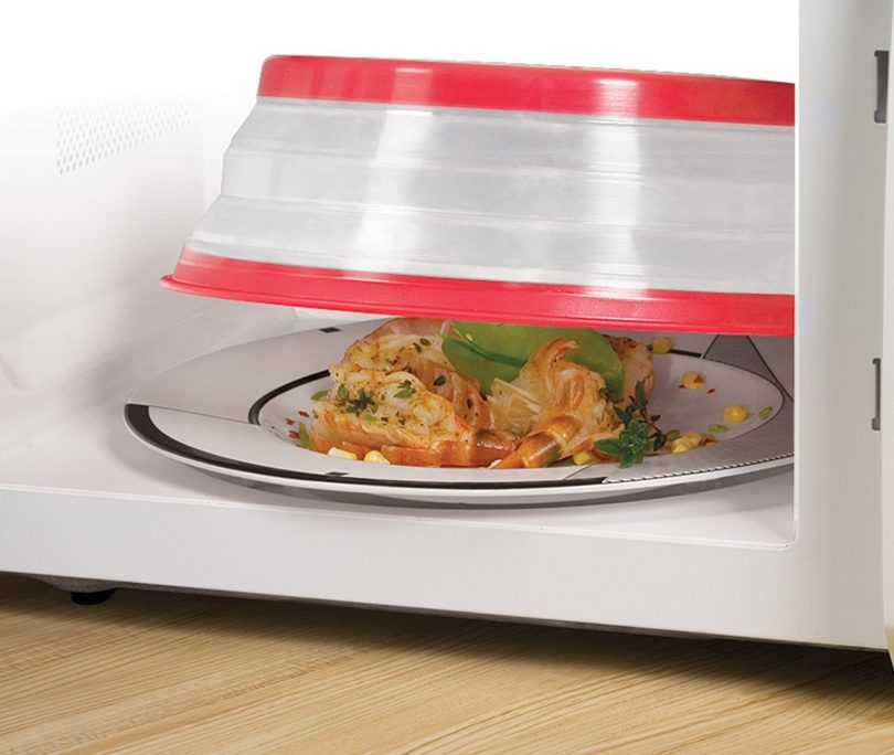 Tovolo Vented Collapsible Microwave Food Cover With Easy Grip Handle