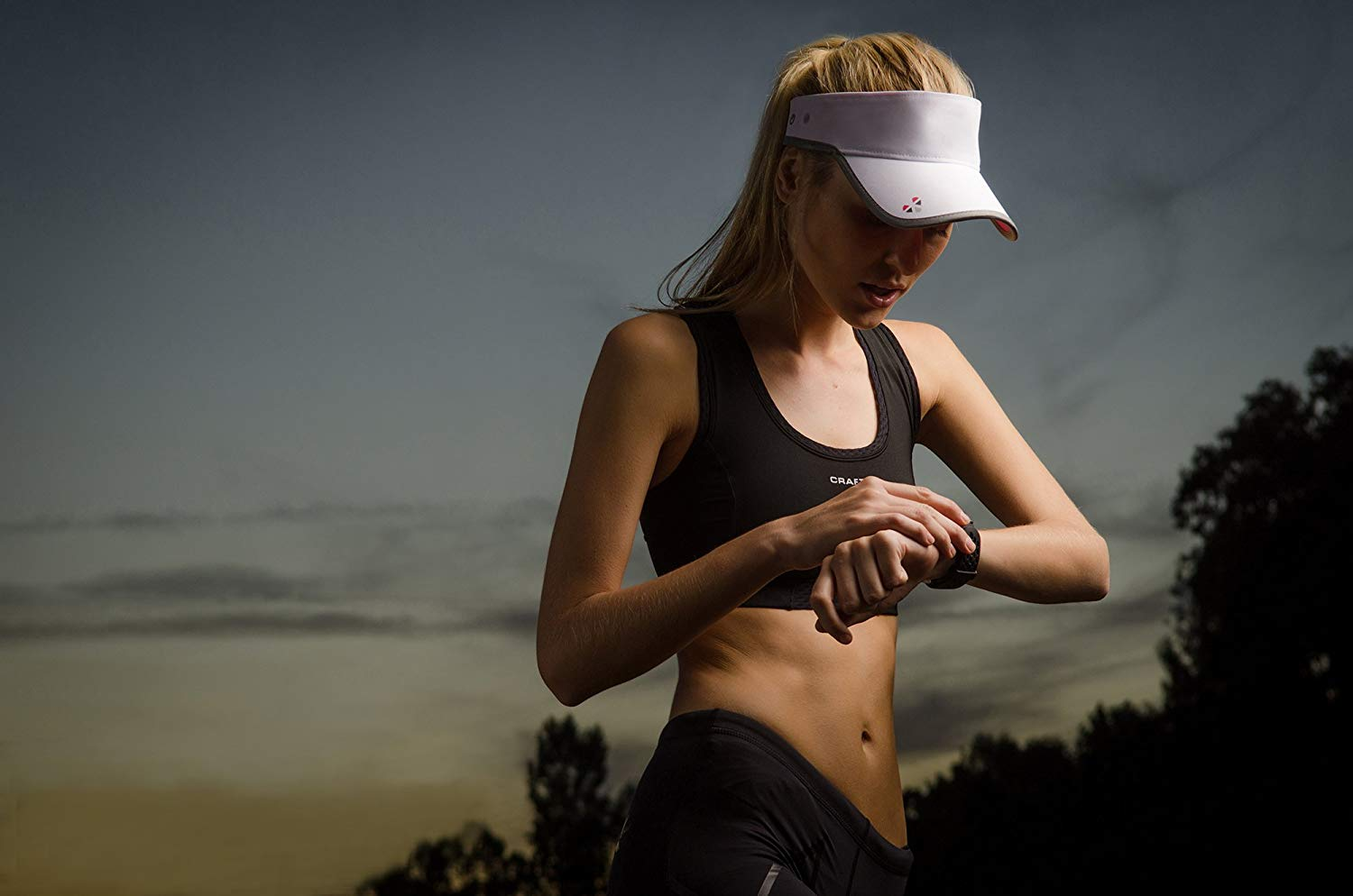 LifeBEAM Smart Visor with Integrated Heart Rate Monitor