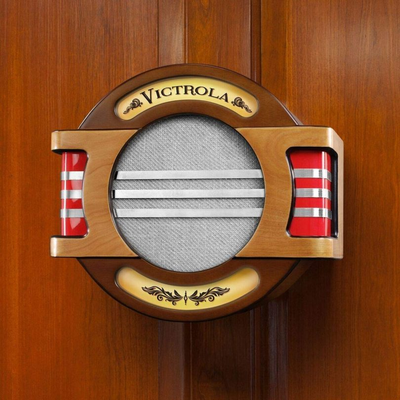 Victrola Wall Mounted Bluetooth Speaker with A/C Adaptor and Built-in Rechargable Battery