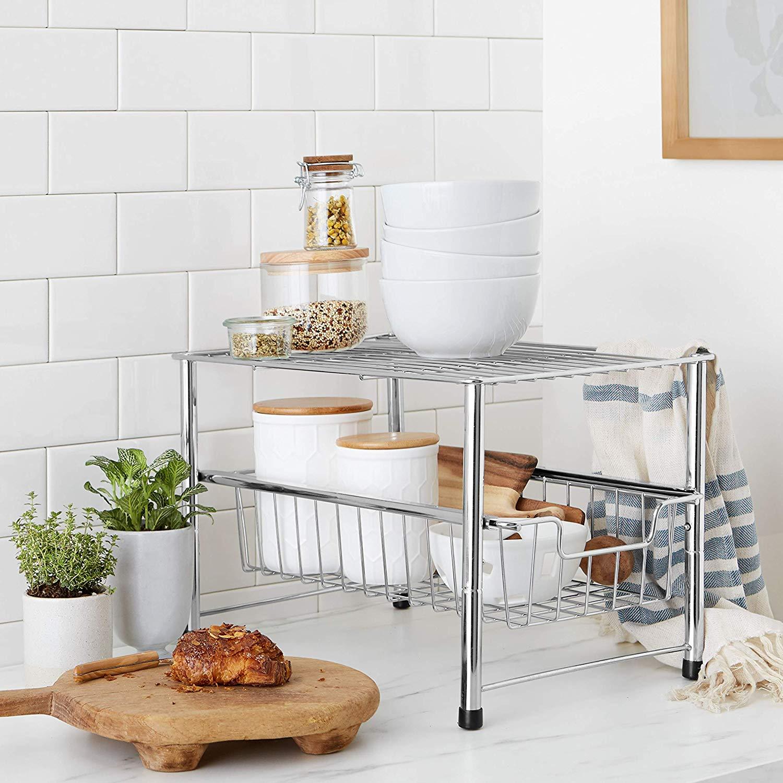 Stackable Sliding Basket Drawer Storage Organizer