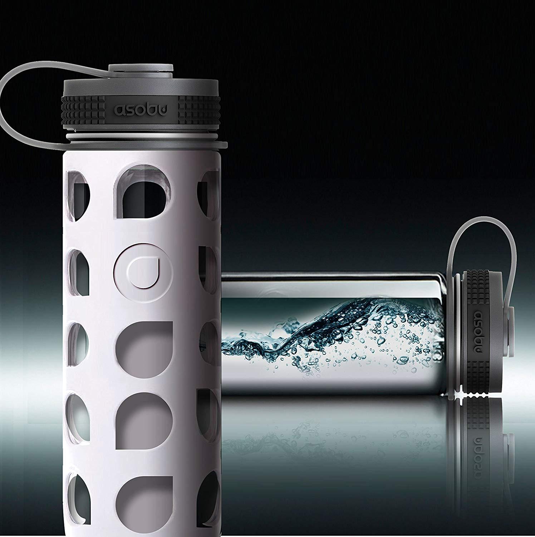 Asobu Nature's Way 20oz Eco Friendly Wide Mouth Glass Water Bottle BPA Free