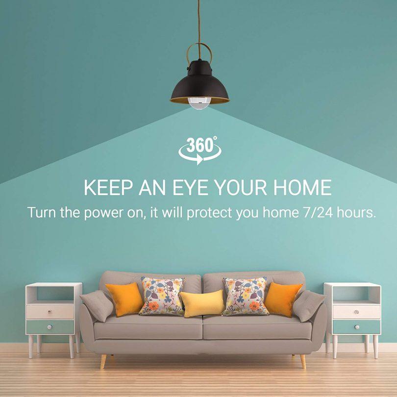 Light Camera Security 1080p WiFi Wireless Smart spy Bulb