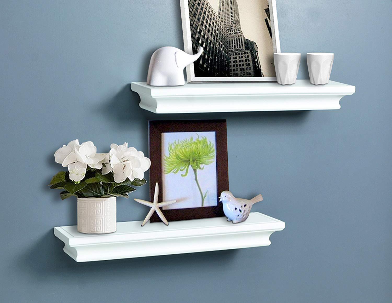 AHDECOR White Floating Shelves