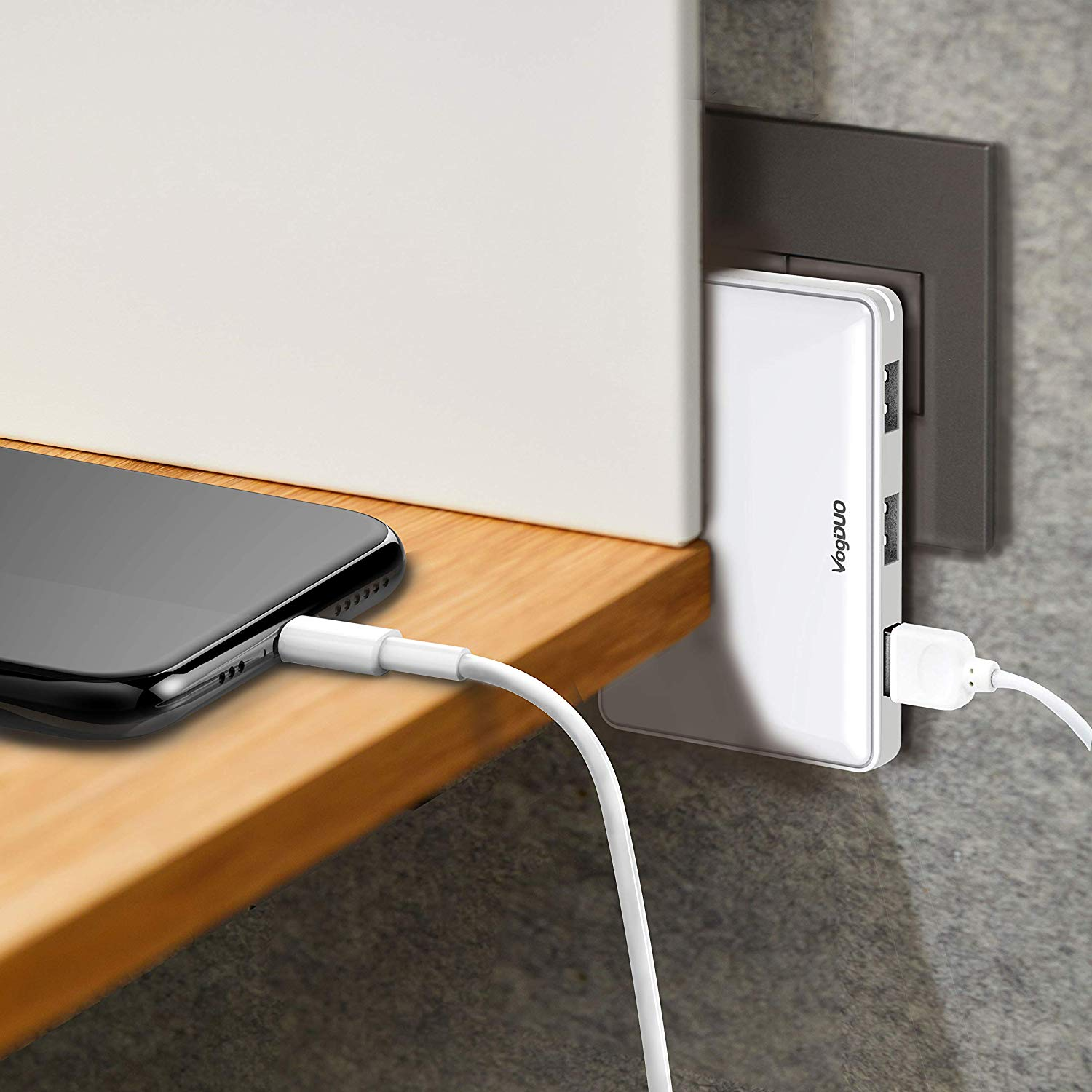 VogDUO Charger Pro, 3 Port USB Travel Wall Charger