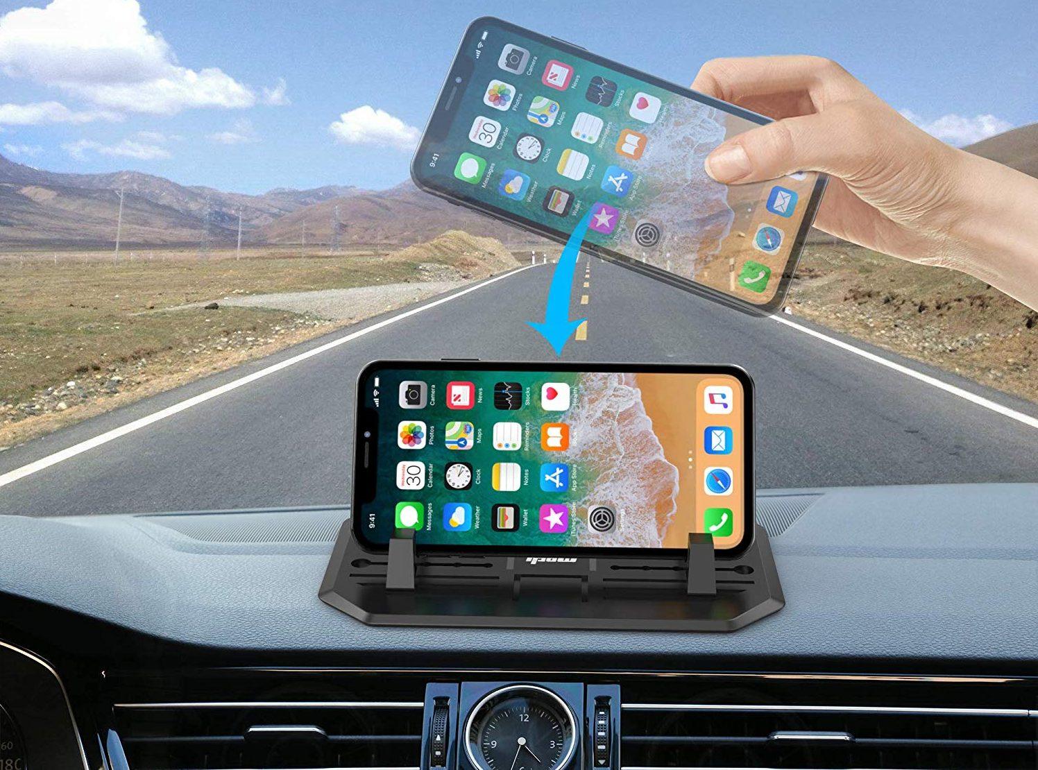 IPOW Anti-Slip Silicone Car Phone Dashboard Pad Mat