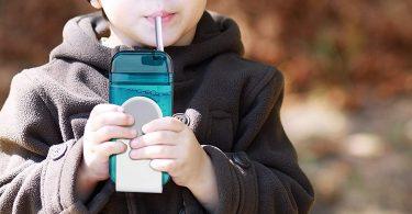 asobu Juicy Drink Box The Ultimate Unbreakable Reusable 10oz Water Bottle for Kids Bpa Free