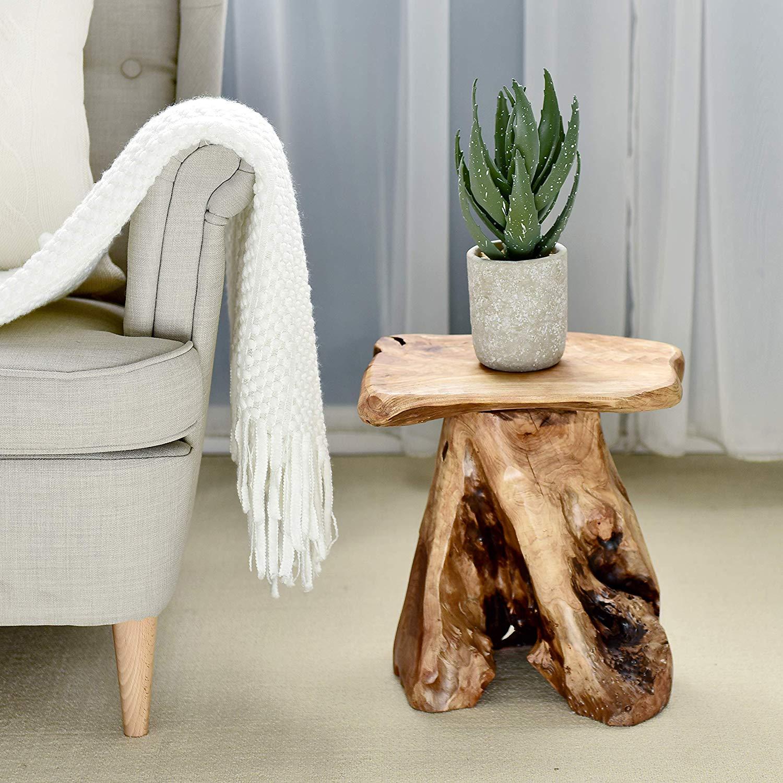 WELLAND Tree Stump Stool Live Edge