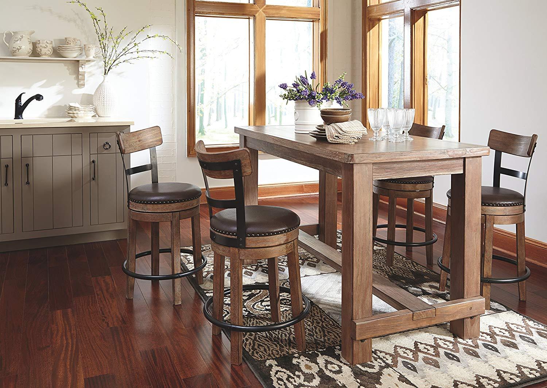 Ashley Furniture Signature Design – Pinnadel Swivel Barstool