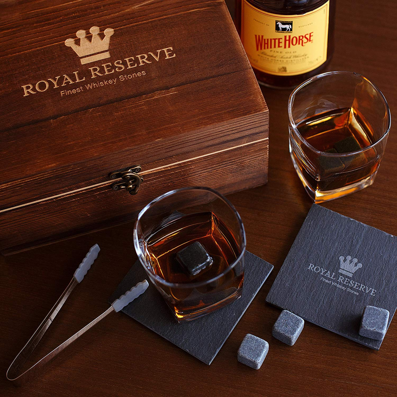 Whiskey Stones Gift Set by Royal Reserve