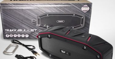 TRAKK BULLET Waterproof Bluetooth Speaker Featuring Next Generation MaxBass