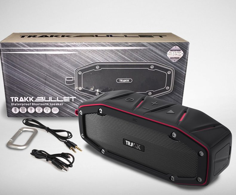 TRAKK BULLET Waterproof Bluetooth Speaker Featuring Next Generation MaxBass
