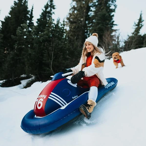 Funboy Winter Inflatable Snowmobile Sleds for Kids 14+ and Adults and ShotSkis