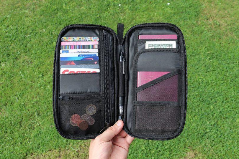 AmazonBasics RFID Travel Passport Wallet Organizer