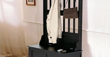 Home Styles Hall Tree and Storage Bench Constructed of Solid Hardwood