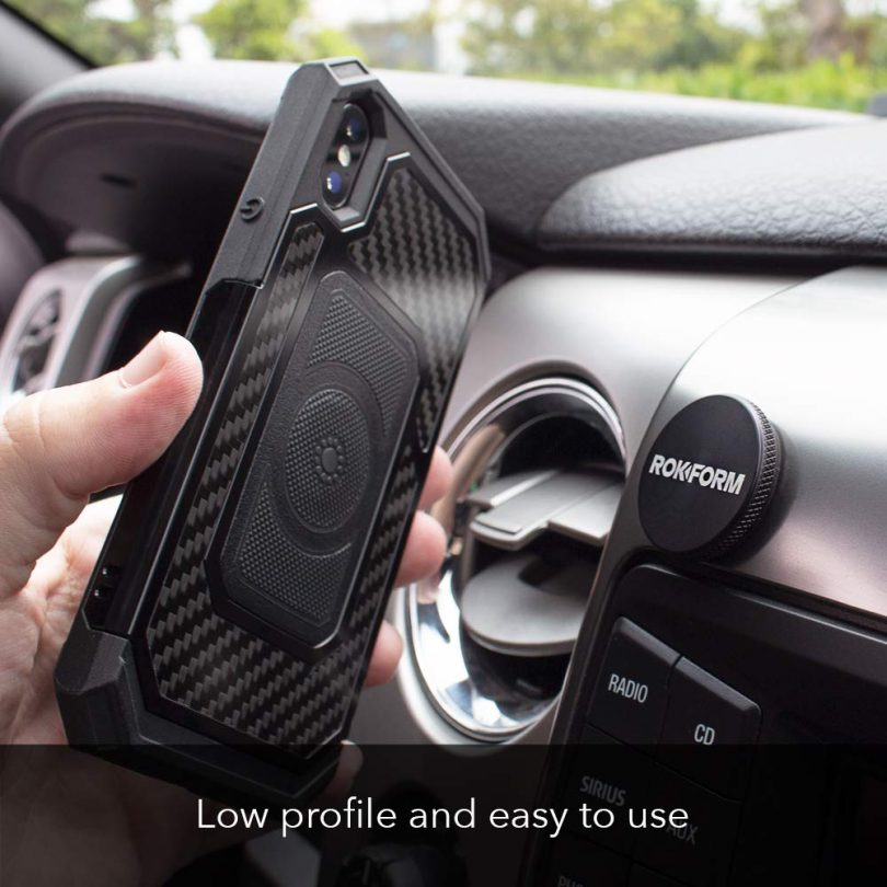 Rokform LOW-PRO Powerful 1 inch universal magnetic car mount